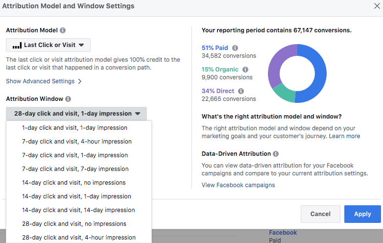Attribution Window Options