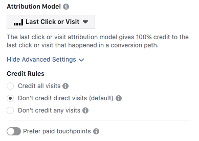 Facebook Attribution Advanced Settings